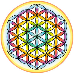 Flower of Life, window sticker 14 cm