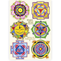 NEW! Happy Mind Yantras, 6 stickers