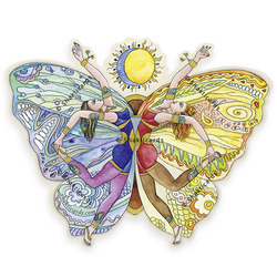 Butterfly, sticker 9 cm