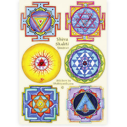 NEW! Shiva Shakti Yantras, 6 stickers