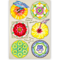 Flower Power Mandalas, 6 stickers