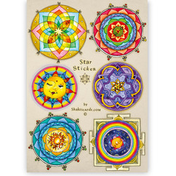 Star Stickers, 6 stickers